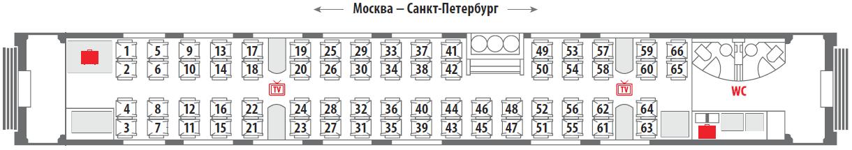 Поезд 102м премиум схема вагона