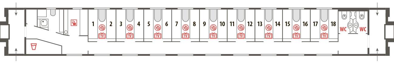 Билеты на фирменный поезд Арктика (Москва - Мурманск - Москва) 015А/016А