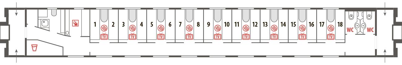 Билеты на фирменный поезд Белые ночи (617Я/618Я)