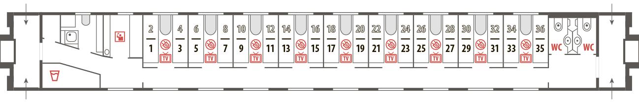 Билеты на фирменный поезд Вятка (№031Г/032Г)