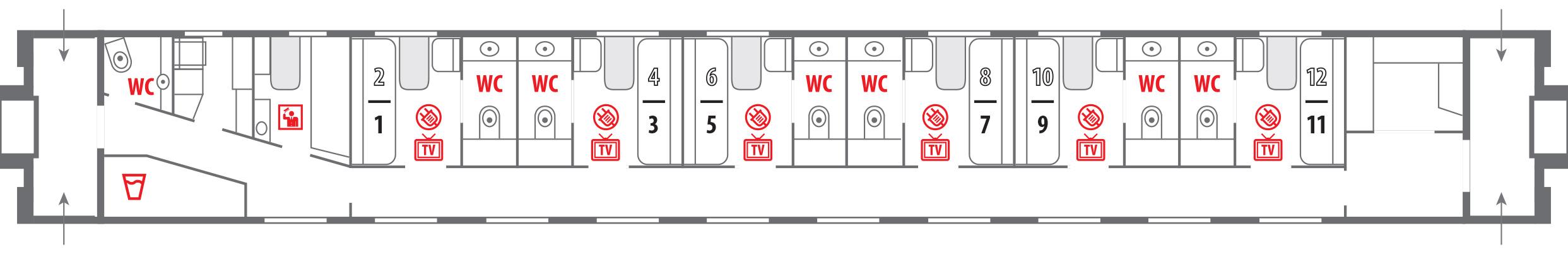 толстой лев вагона в схема поезде