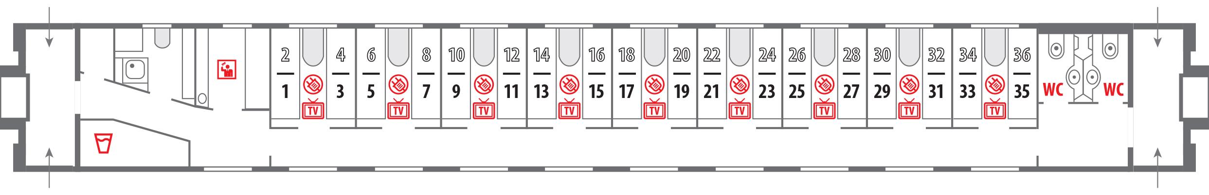 Поезд 102 схема вагонов 220