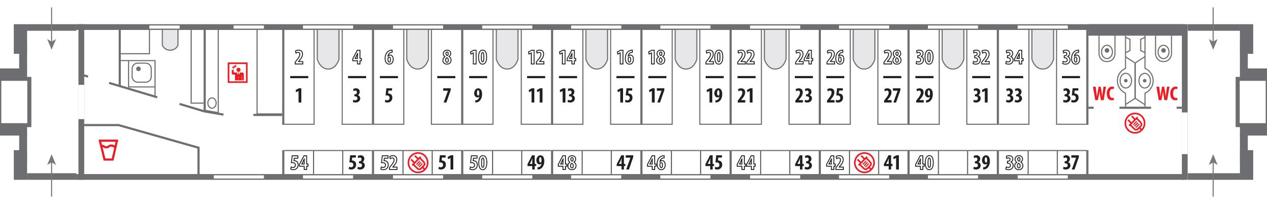 Поезд 102 схема вагонов 249